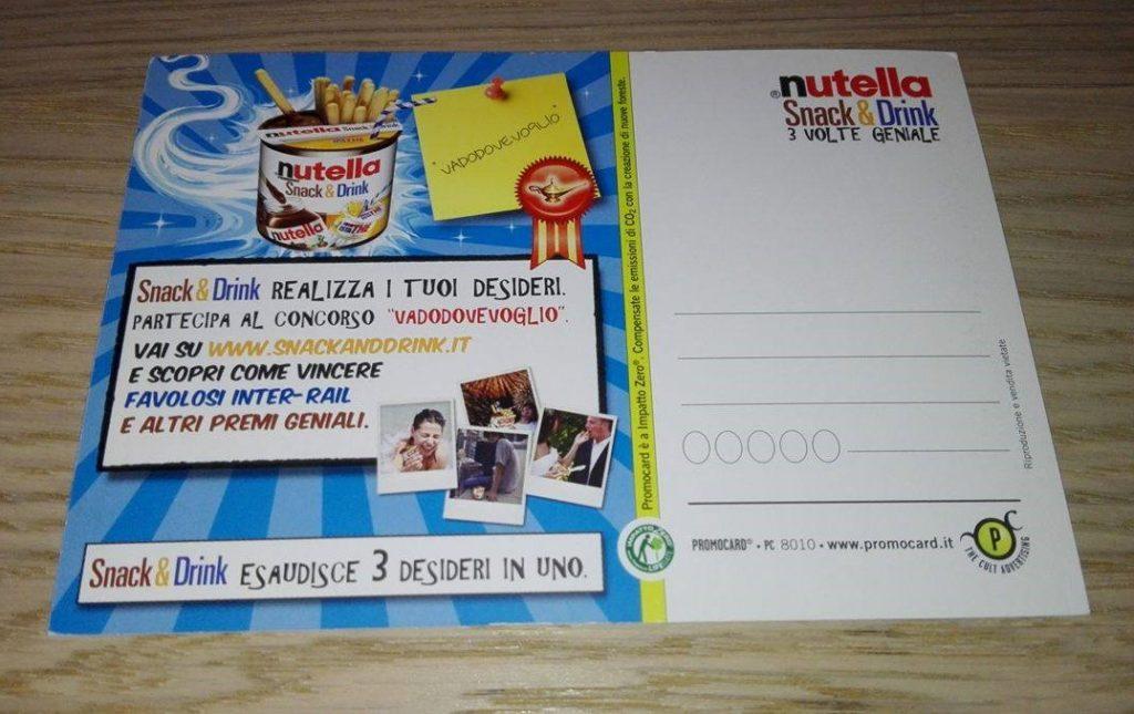 Lampada Barattolo Nutella Concorso : Cartoline & francobolli u2013 nutellamania
