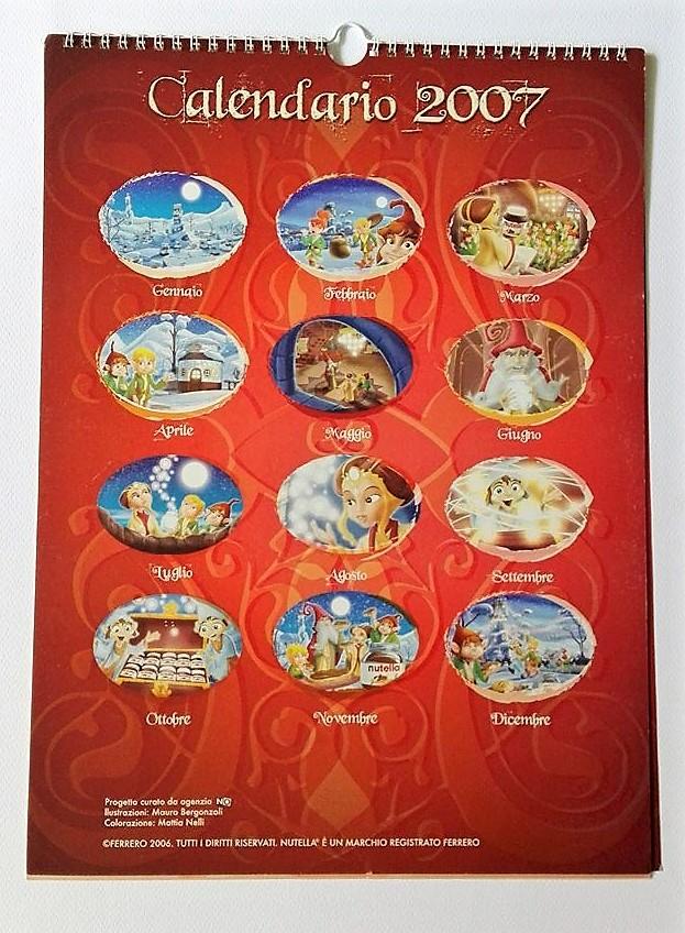 Calendario Luglio 2007.Calendari Nutellamania